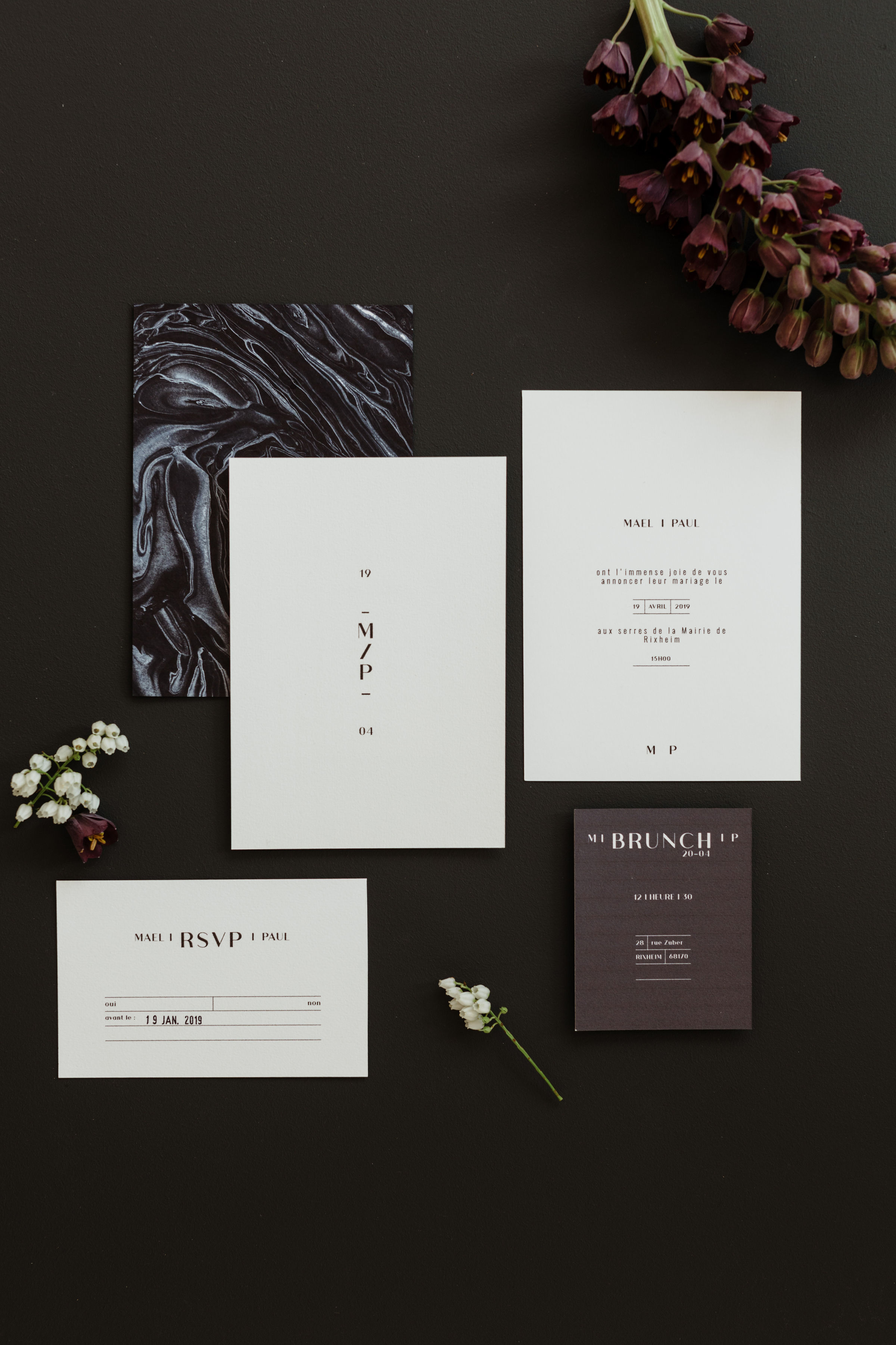 Collection Monochrome [papeterie  | Faire-part mariage]